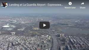 Landing at LaGuardia Airport