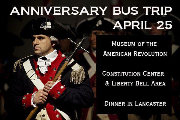 YOSSHS - Anniversary Bus Trip to Philadelphia