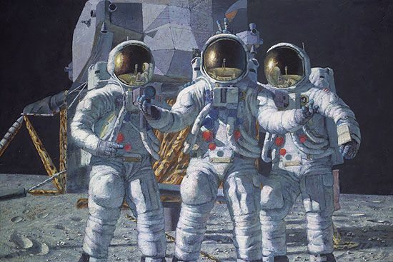 Celebrating Apollo 12 50th Anniversary with Art Exhibit and Free Lecture wiwth Leslie Bean on 11/20