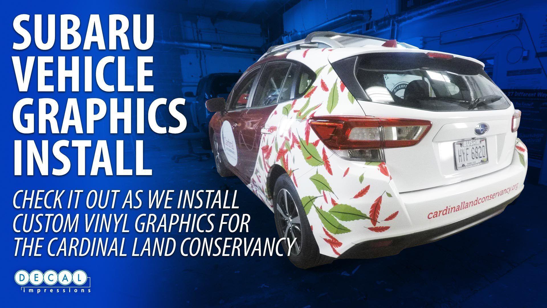 Cardinal Land Conservancy Vehicle Wrap Installation