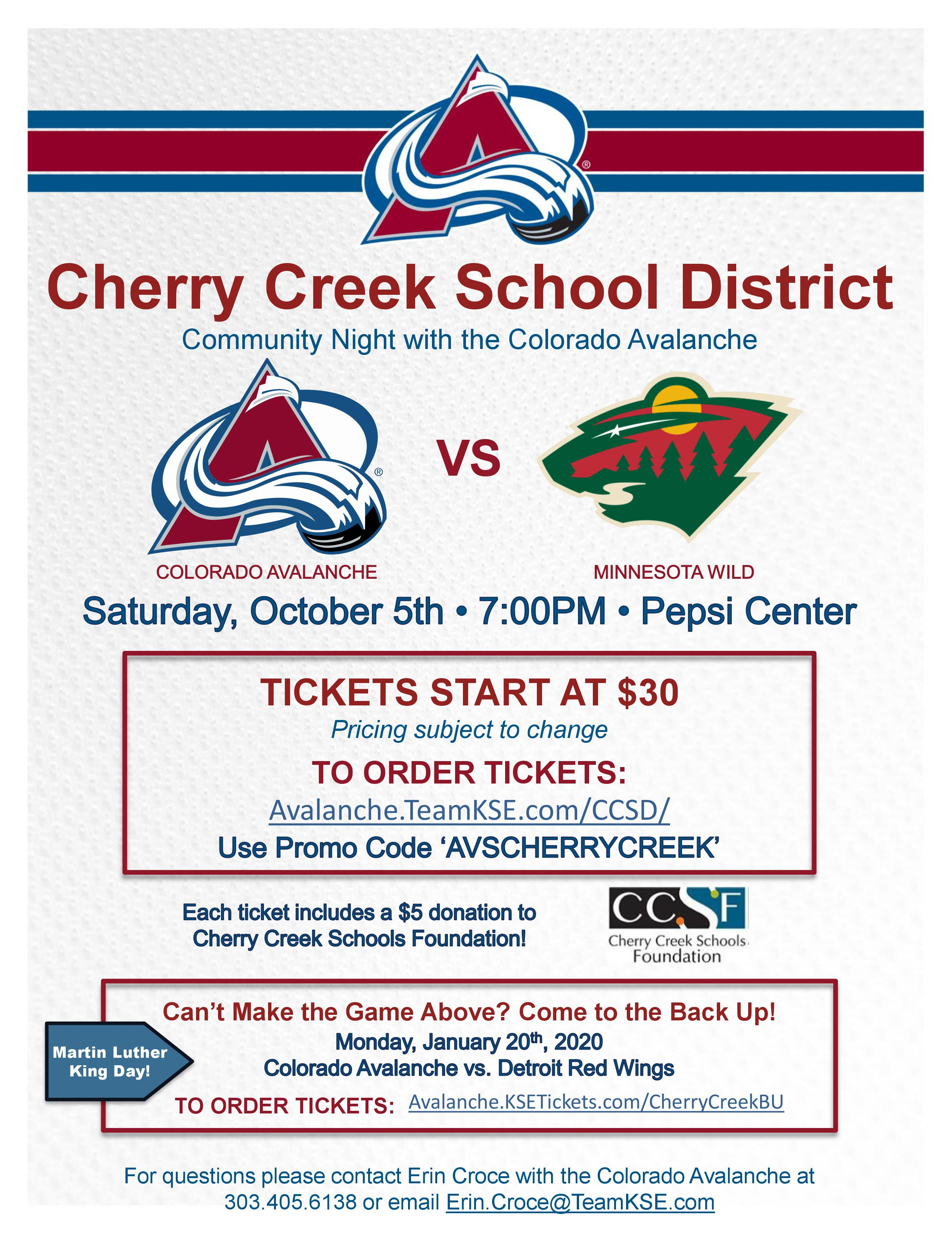 Avalanche vs Wild Community Night 2019