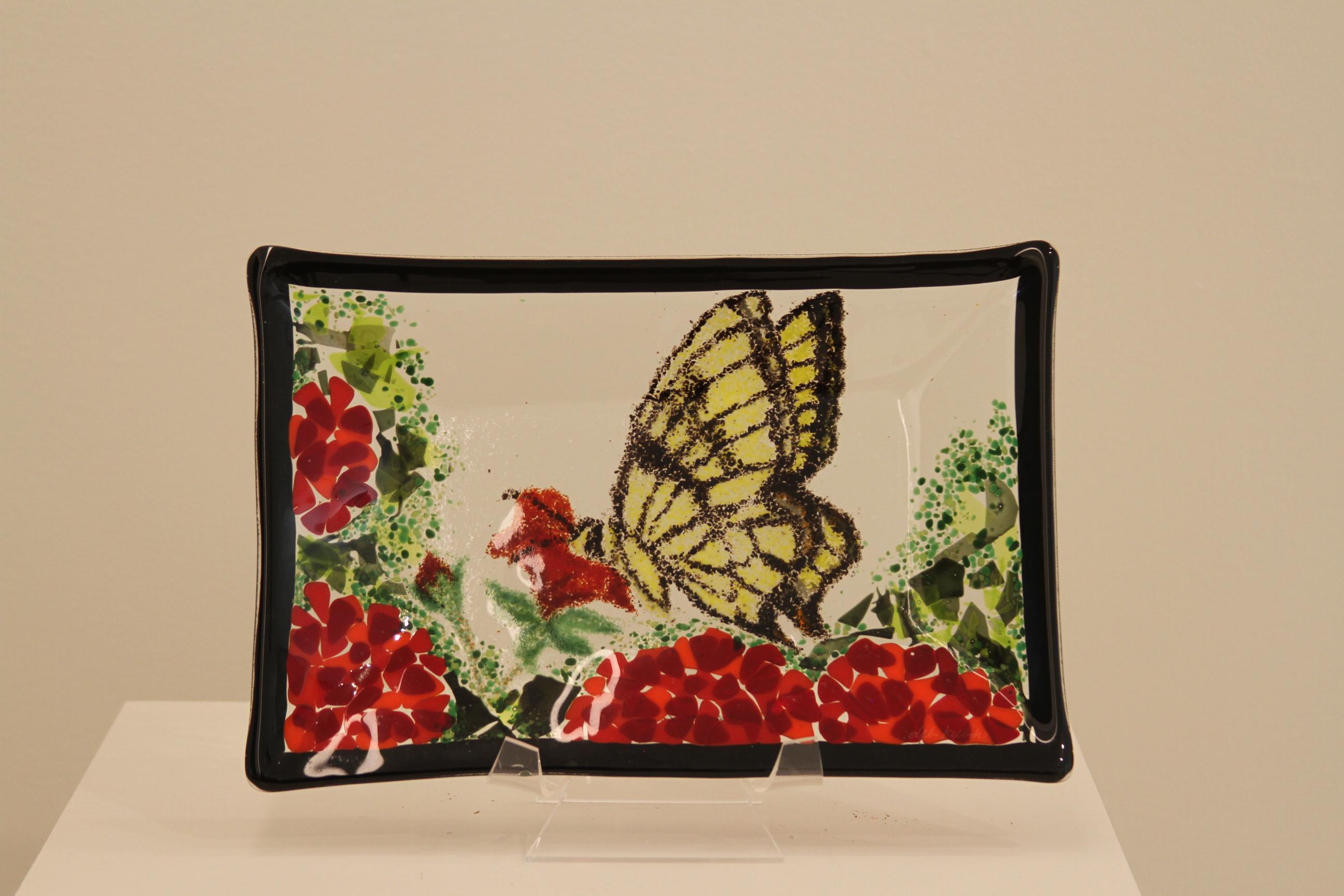 Swallowtail on Geranium