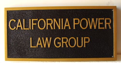 A10218 - Sandblasted HDU Law Group Sign