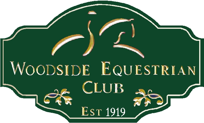 P25021- Equestrian Club Sign