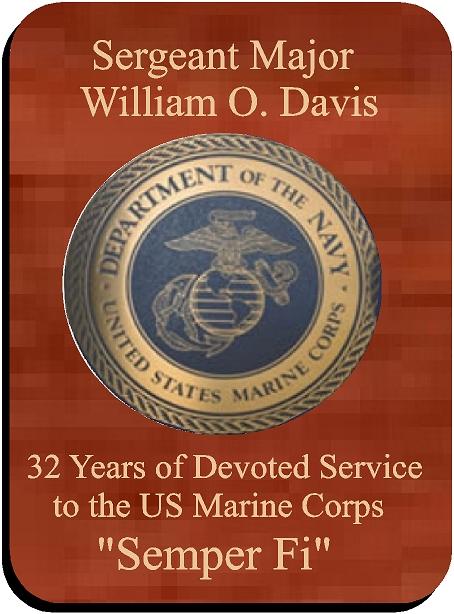 V31478  - Personalized Mahogany Marine Corps Service Plaque