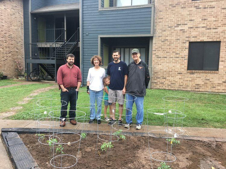 Growing Together: RST Clients, Volunteers and Staff Tend to a Community Garden
