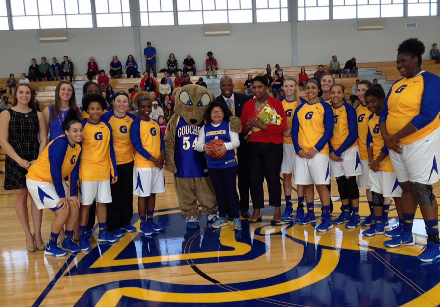 A Special Day for Willow, the Newest Member of Goucher Women's Basketball