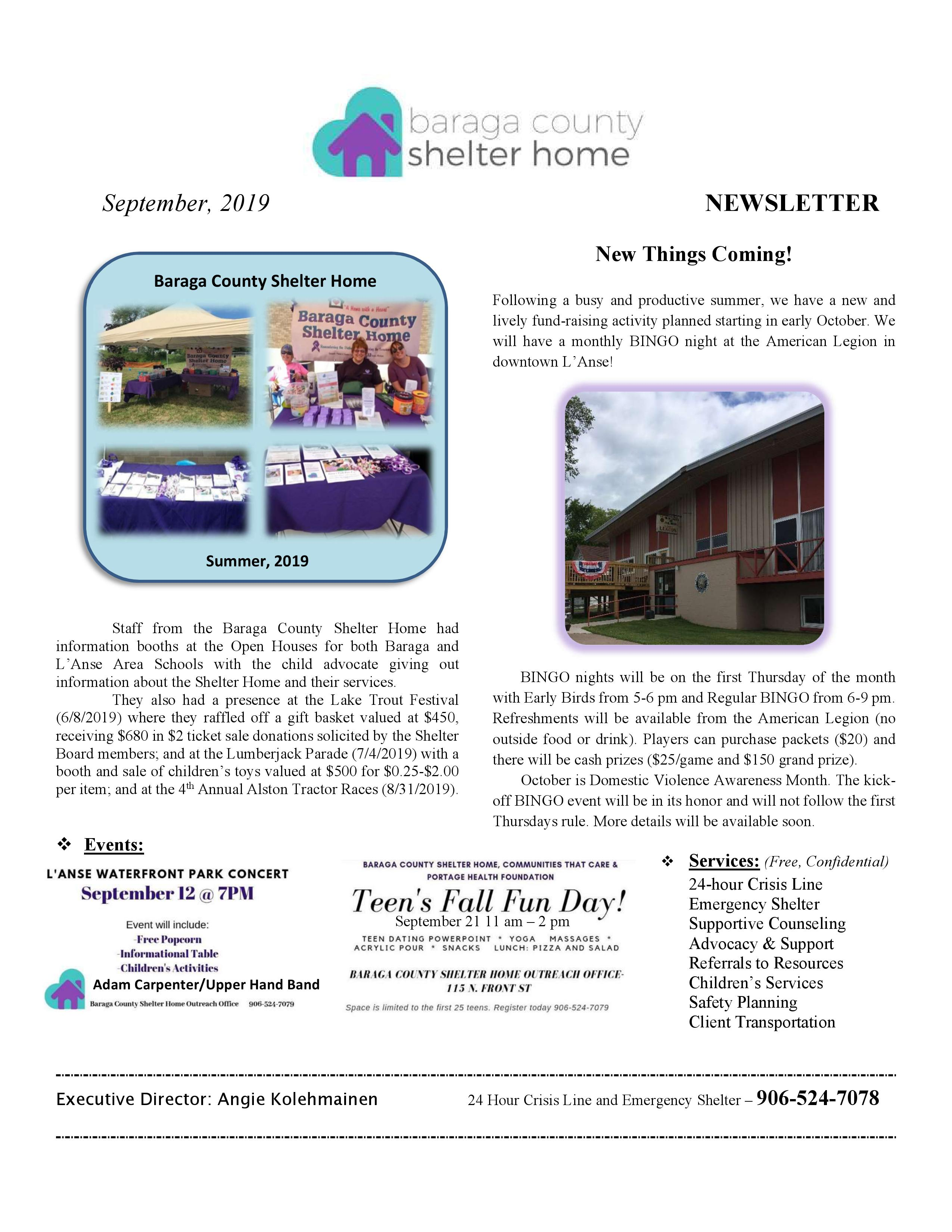 Quarterly Newsletter September 2019