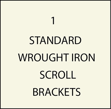 M4000 -Standard Wrought Iron Scroll Brackets