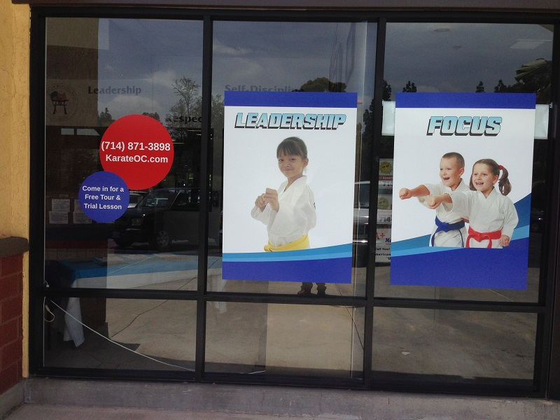 Window Graphics for Karate Schools in Orange County