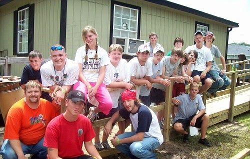 Volunteers from M-Fuge built family's wheelchair remp