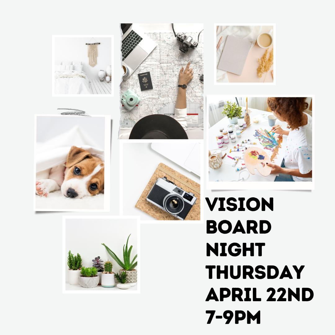 DSA MOMS Vision Board Night