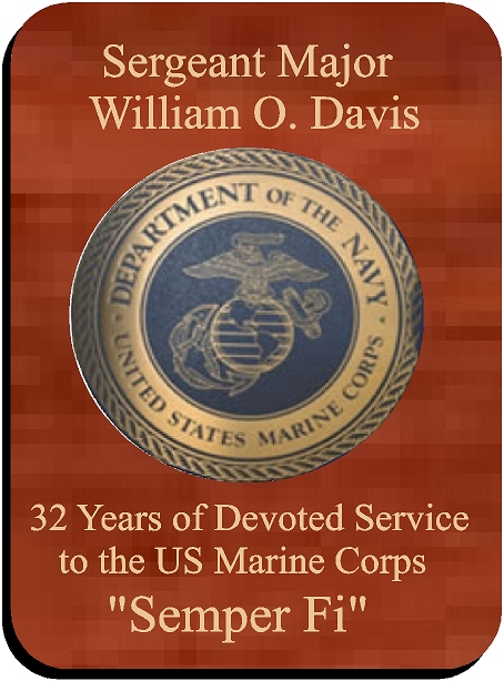 WM1290 - US Marine Corps Retirement Plaque, Personalized, Engraved  Stained Mahogany