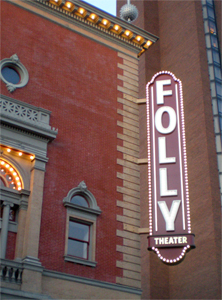 Folly Theater Marquee Sign