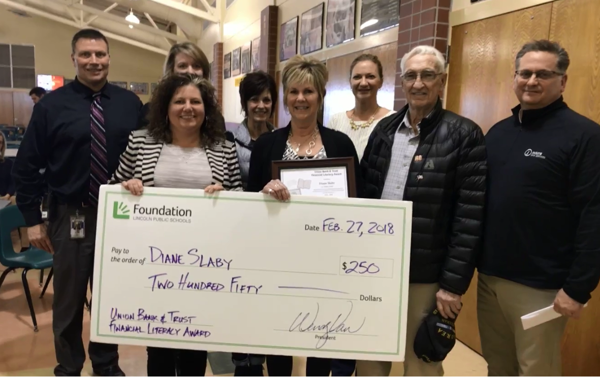 Diane Slaby, Union Bank & Trust Award for Excellence in Financial Literacy Education