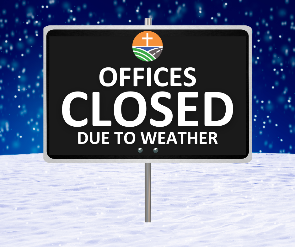 Due to inclement weather, our Lincoln social services/administrative offices and Hastings office will be closed to the public on Monday, January 25th.