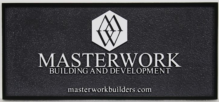 """S28148 - Carved Sign for the """"Masterwork Building and Development""""Company"""