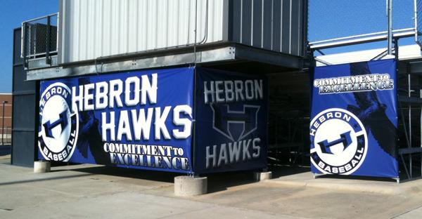 Hebron Hawks Bleacher Wrap