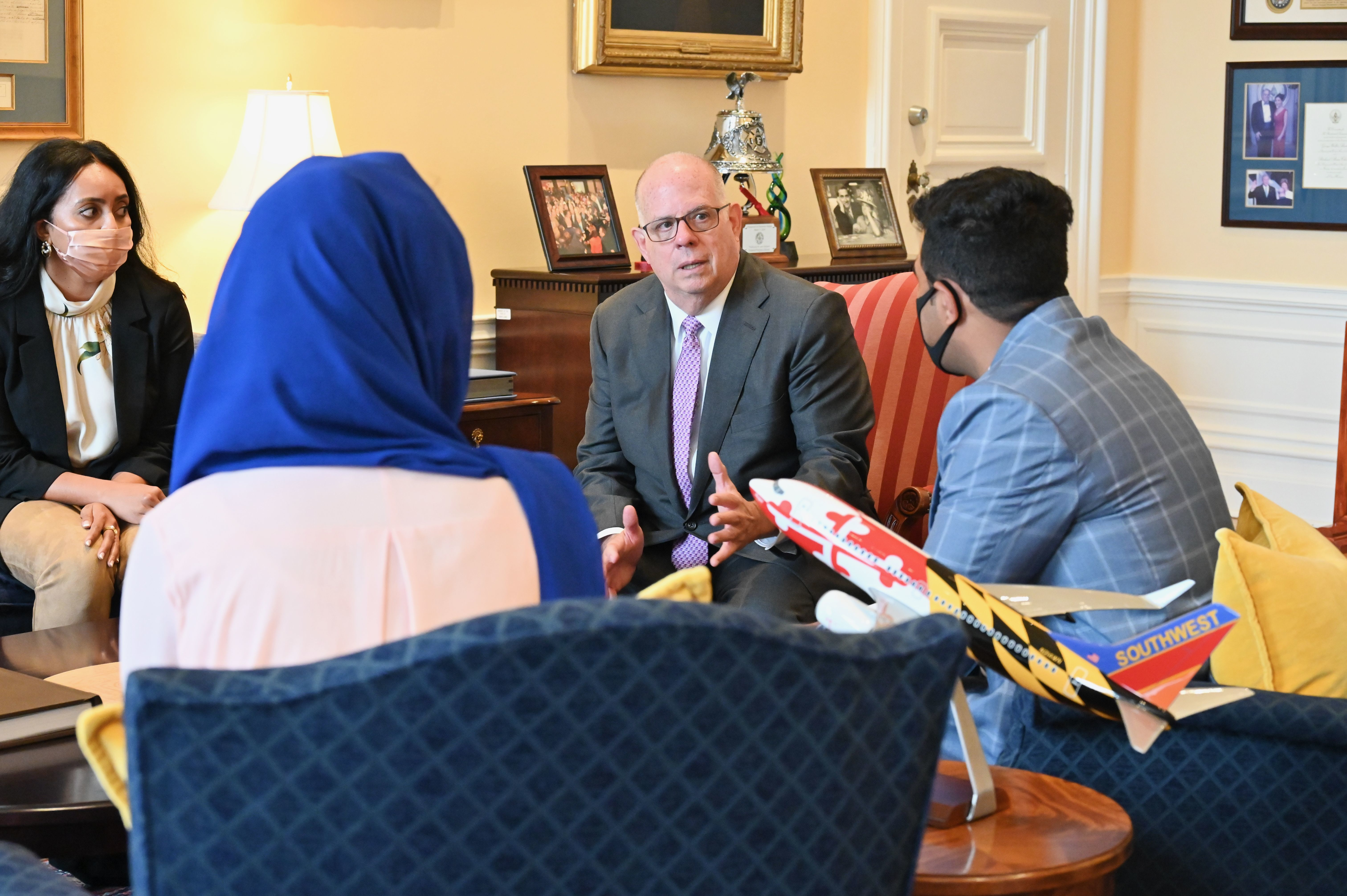 Governor Hogan Meets With Afghan Interpreter Resettled In Maryland