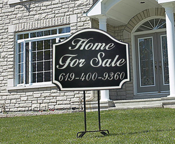 C12420 - Home For Sale Sign, carved High-Density-Urethane