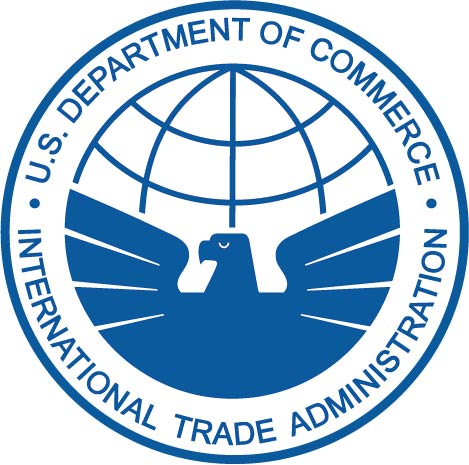 U30406 -  Carved Wood Wall Plaque of the Dept. of Commerce, International Trade Administration Seal