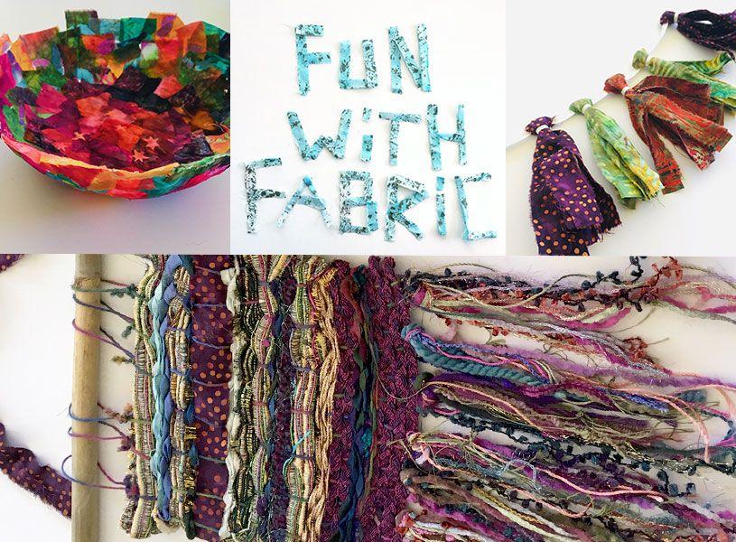 Virtual Art Camp: Fun with Fabric