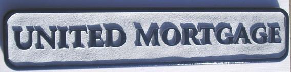 C12230 - Sandblasted United Mortgage Sign