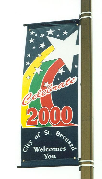 Celebrate 2000 Pole Banner