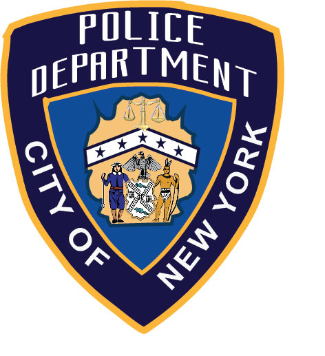 PP-2160 - Carved  Wall Plaque of the Shoulder Patch of the New York City Police,  N.Y., Artist Painted