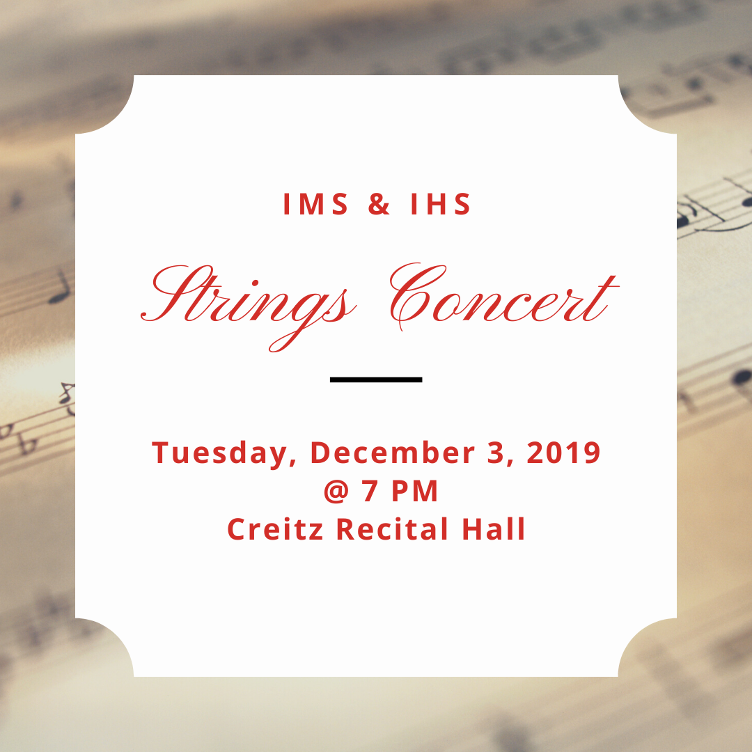 IMS & IHS Strings Concert