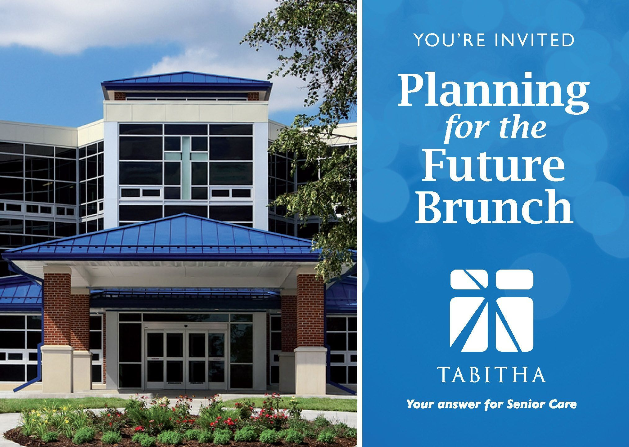 You're Invited to Tabitha's Planning for the Future Brunch