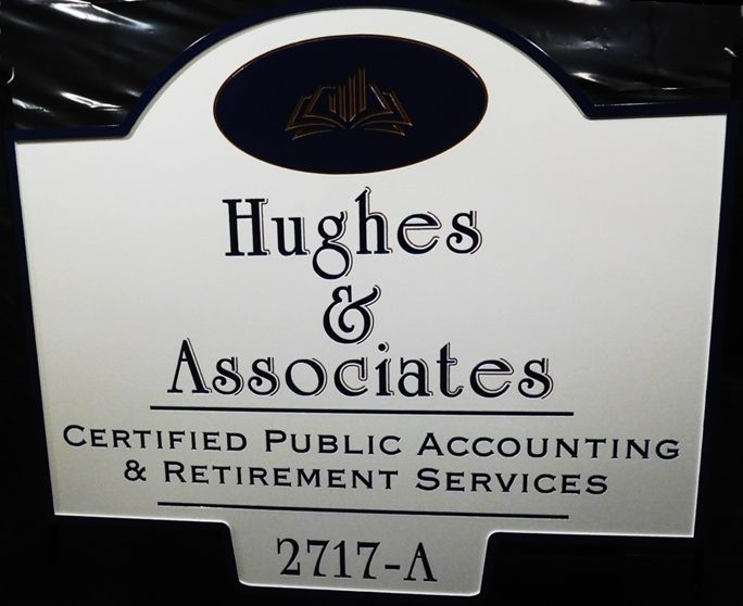 C12089 -  Engraved HDU Sign for CPA with Retirement  Services