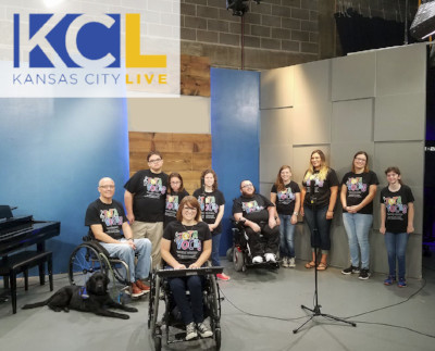 Tota Voces Choir performing on morning TV show