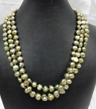 SD Chic Beads-Freshwater Green Pearl