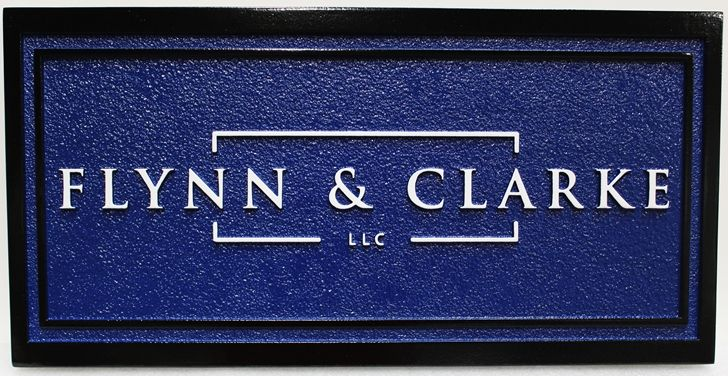 C12108 - Sandblasted Financial Firm Wall Sign