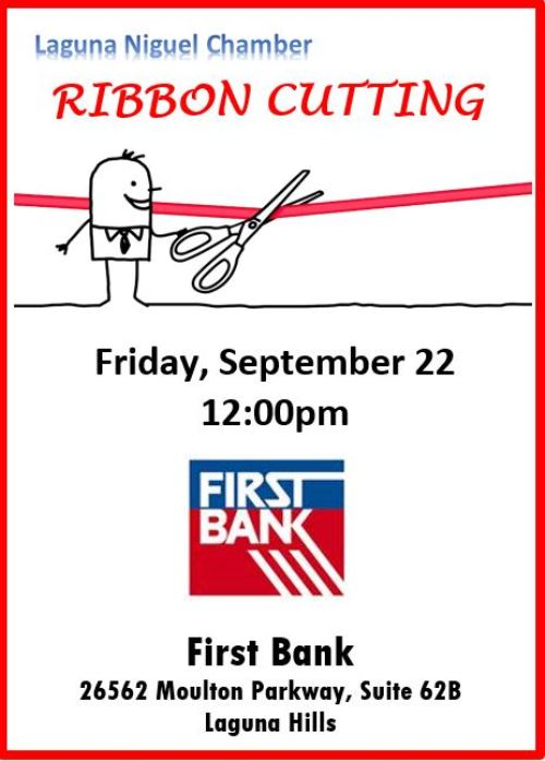 First Bank New Location Ribbon Cutting