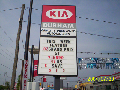 Kia Pylon Sign