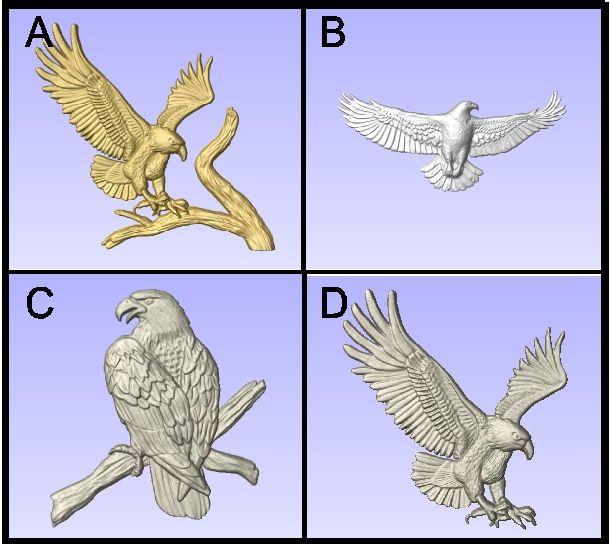 G16460 - Carved Eagles