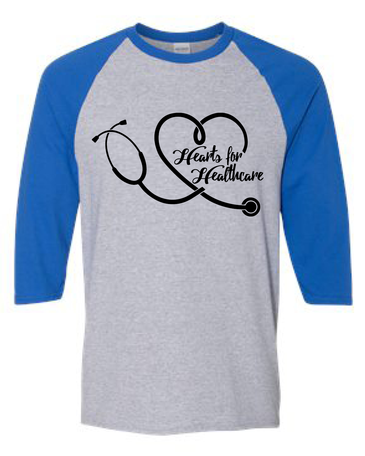 HEARTS FOR HEALTHCARE (BASEBALL TEE)