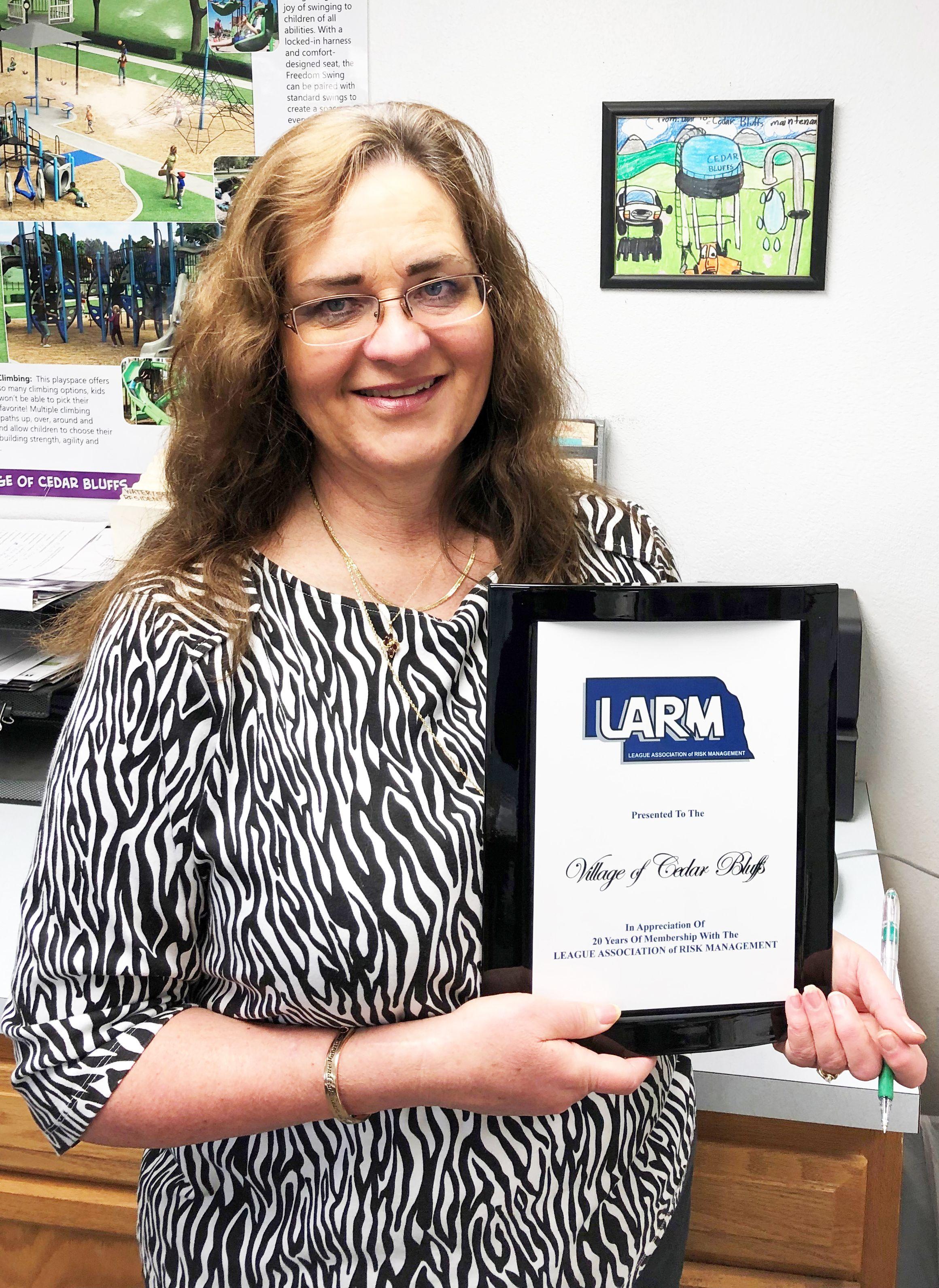 Congratulations to Cedar Bluffs, 20 year LARM member!