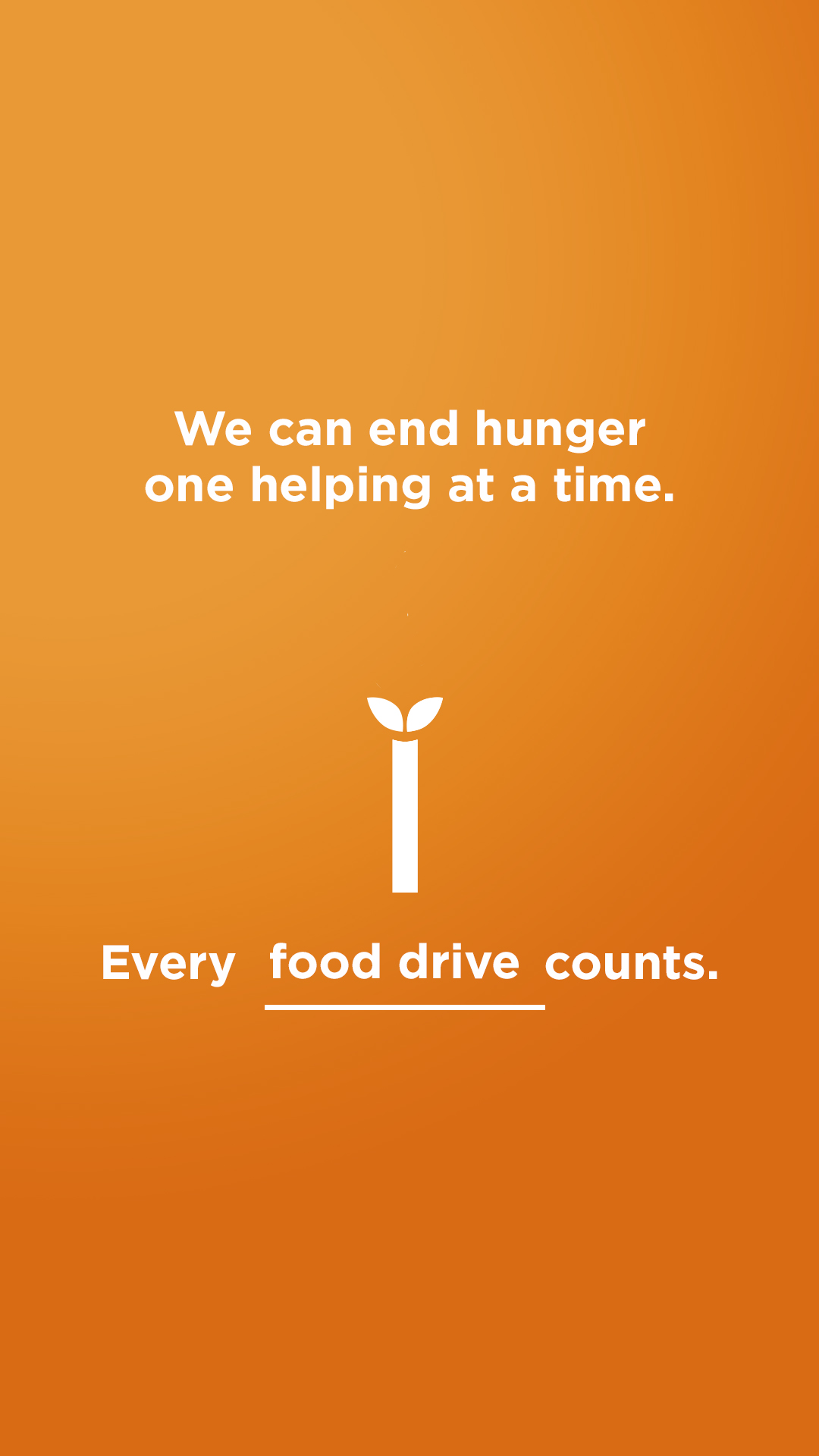 We can end hunger - Food drive