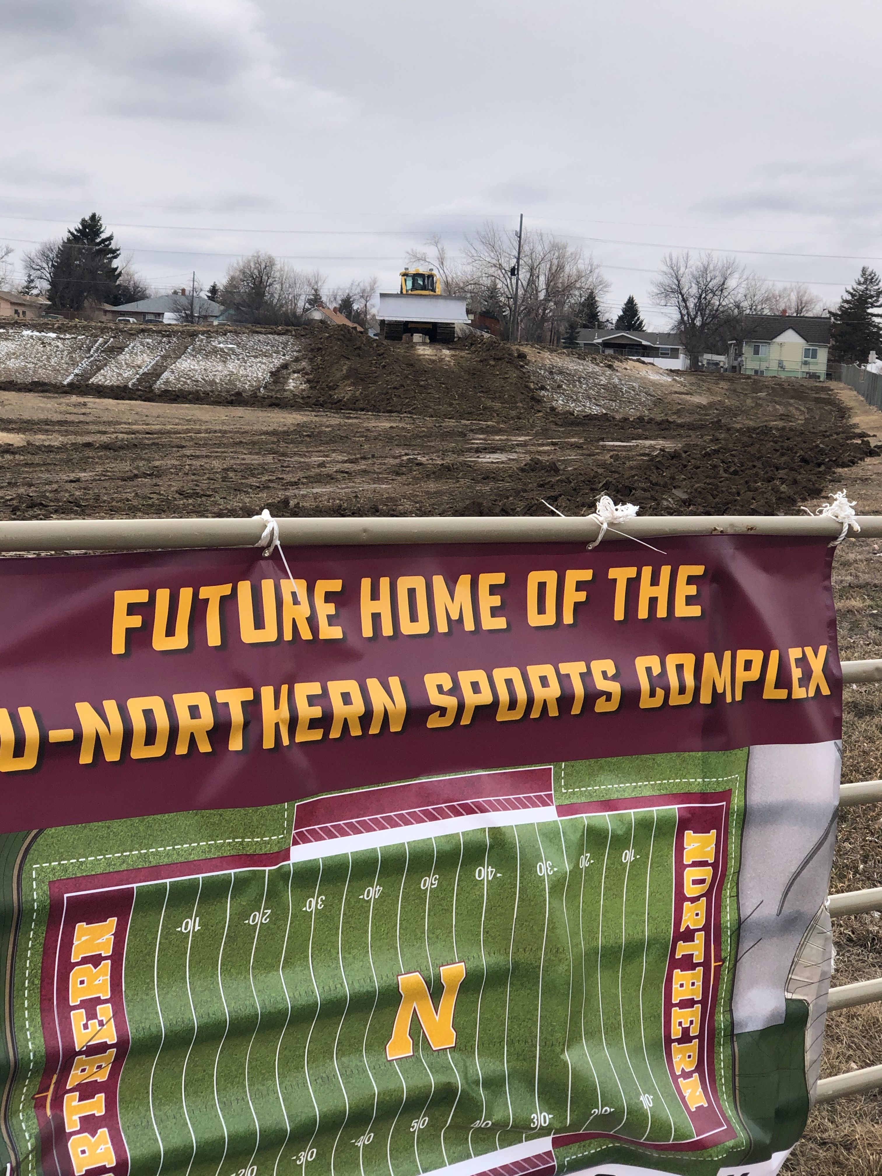 Our sign announcing the future home of the Sports Complex, 3/13