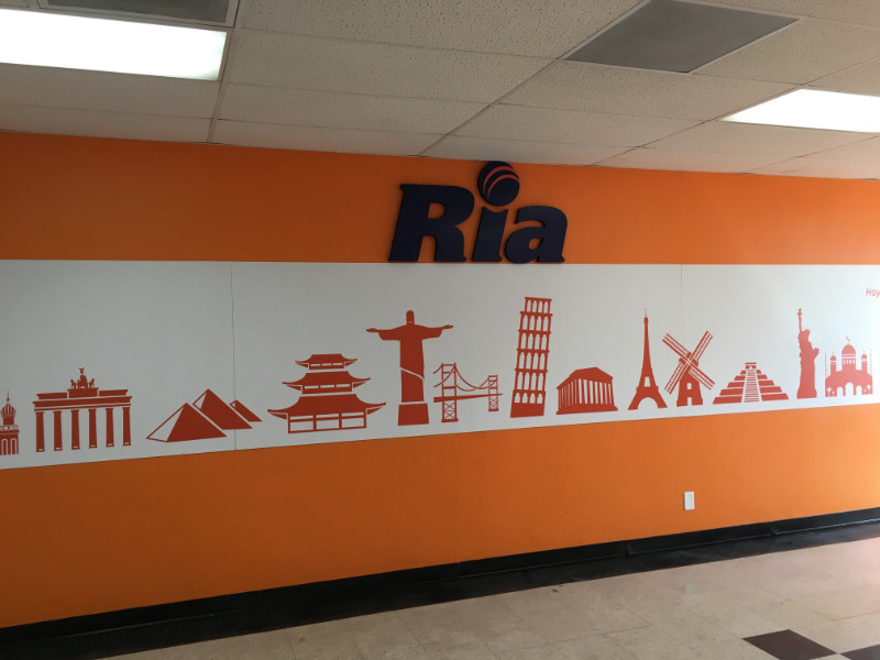 Lobby signs for new businesses in Orange County