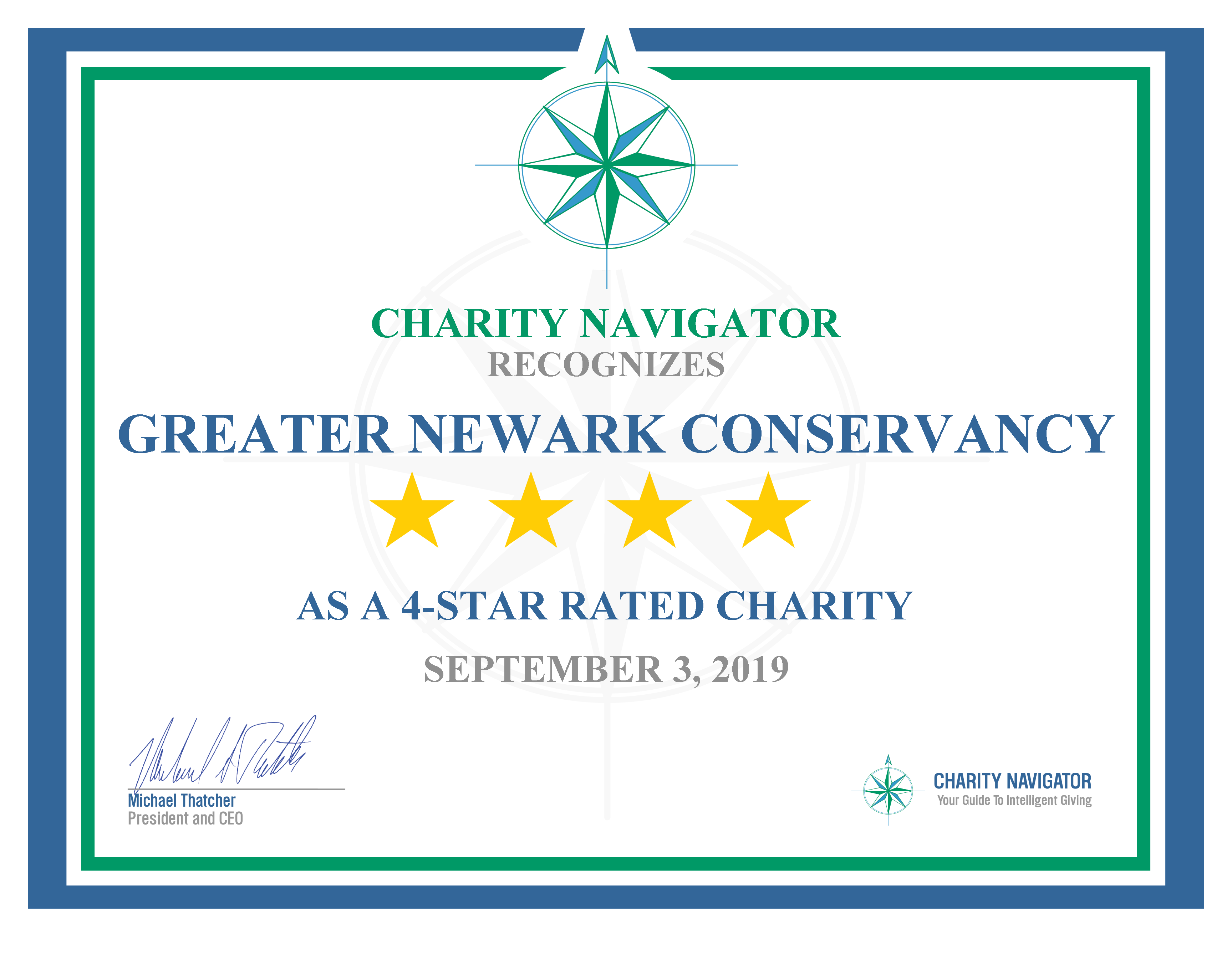 We Have a 4-Star Rating from Charity Navigator!