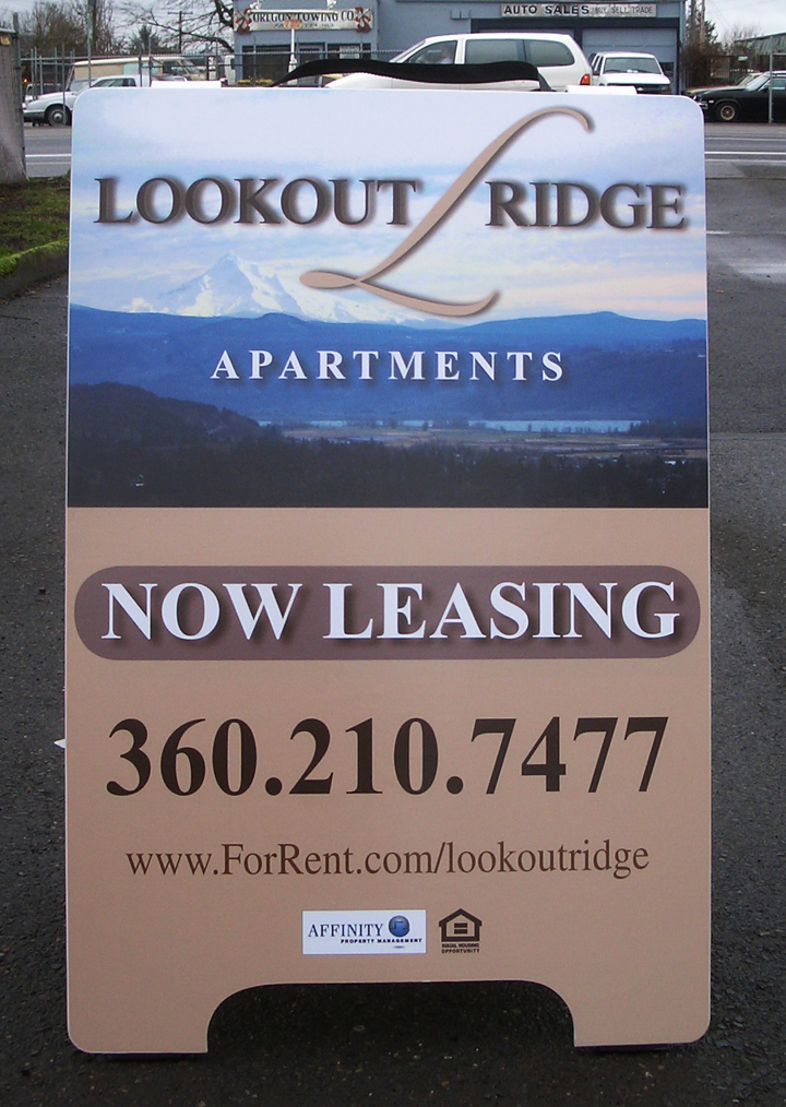 Lookout Ridge A-board A-board full color digital Print