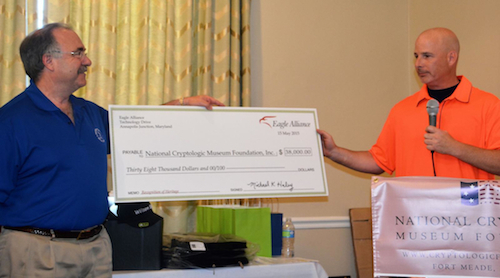 2015 Eagle Alliance golf check presentation to NCMF