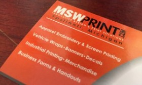 MSW Business Card with Services Listed