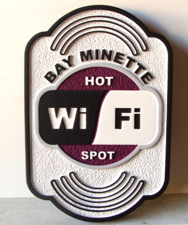 M1285 - Sandblasted WiFi Sign (Gallery 28A)