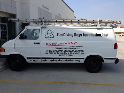 Van decals and lettering Orange County