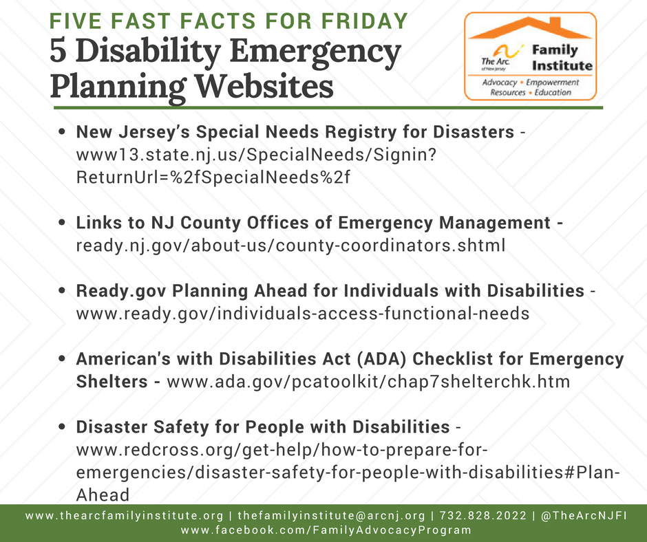 5 Disability Emergency Planning Websites